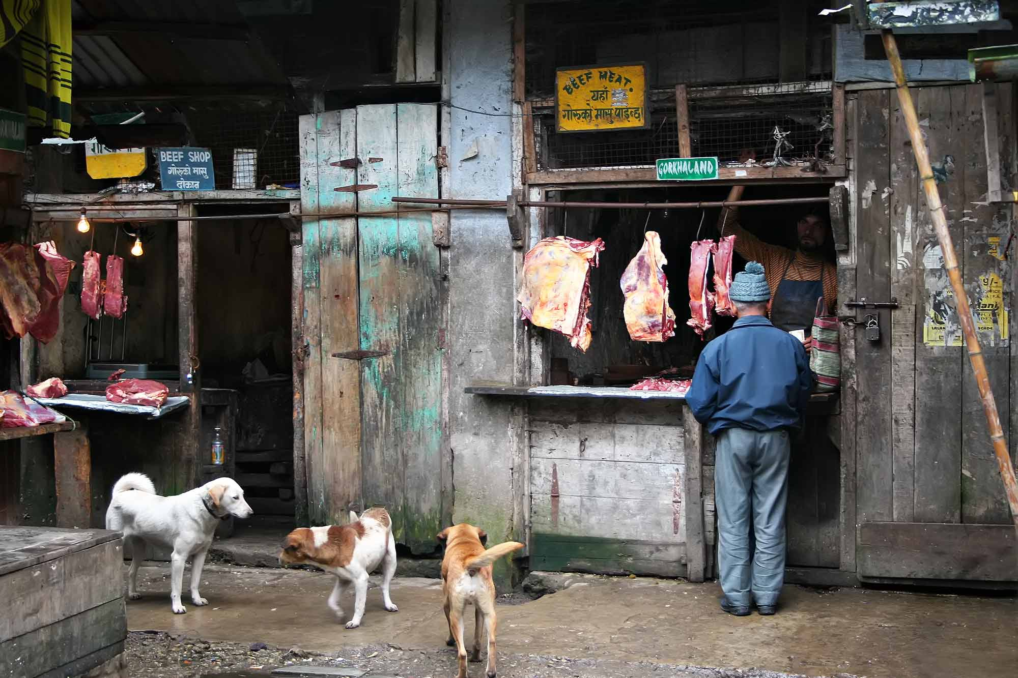 A beef shop in Darjeeling, India. © Ulli Maier & Nisa Maier