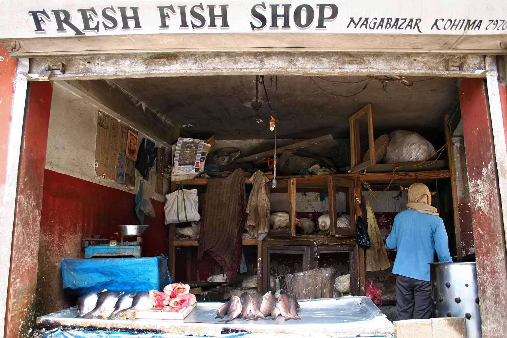 A fish shop in Kohima, Nagaland. © Ulli Maier & Nisa Maier