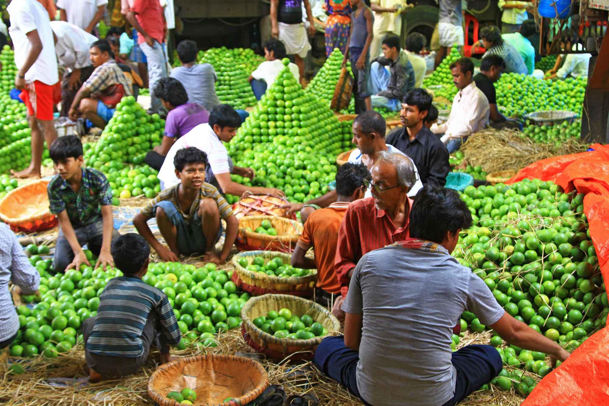 Wholesale fruit market in Kolkata, India. © Ulli Maier & Nisa Maier