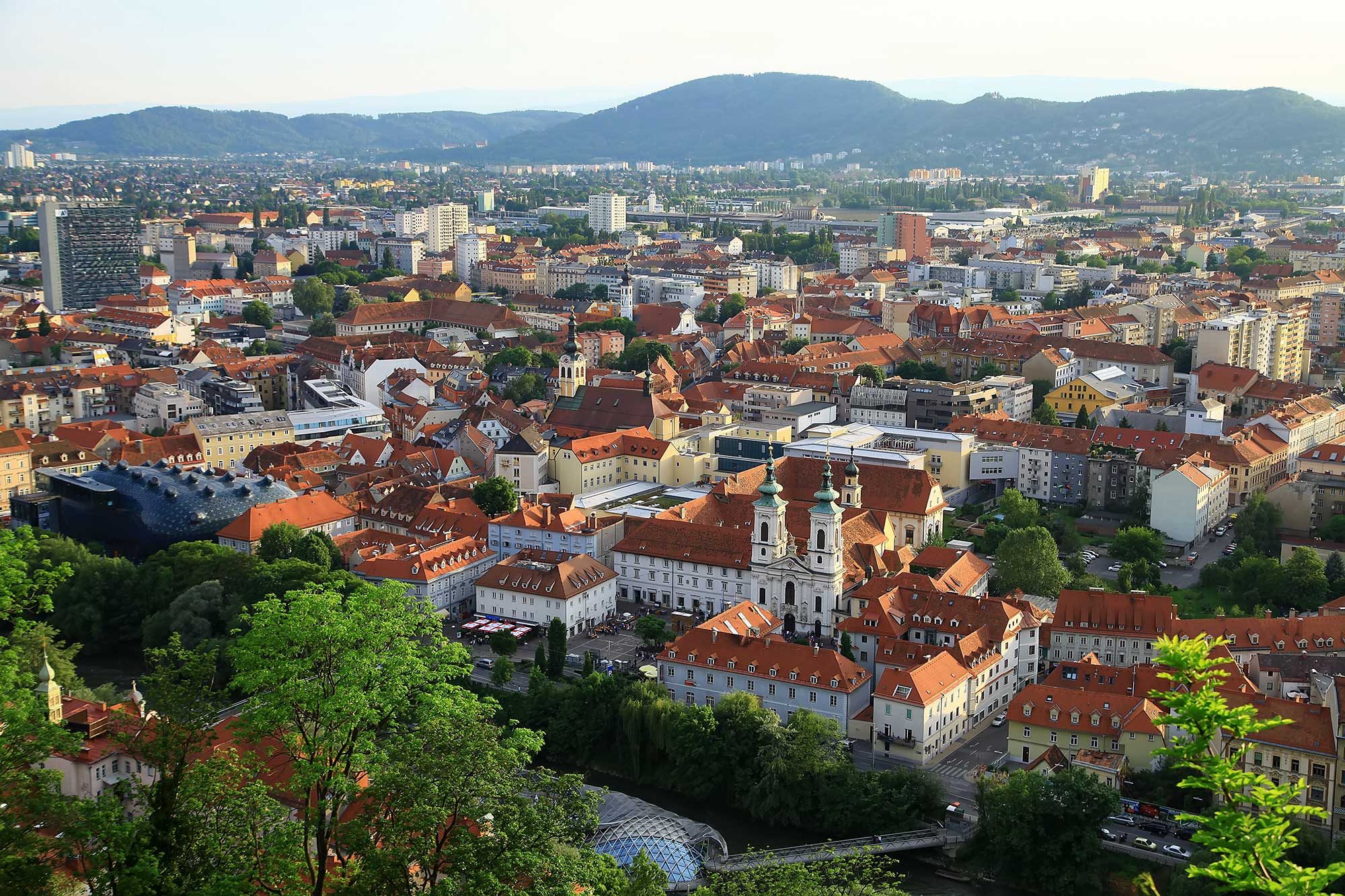 Graz from above. © Ulli Maier & Nisa Maier