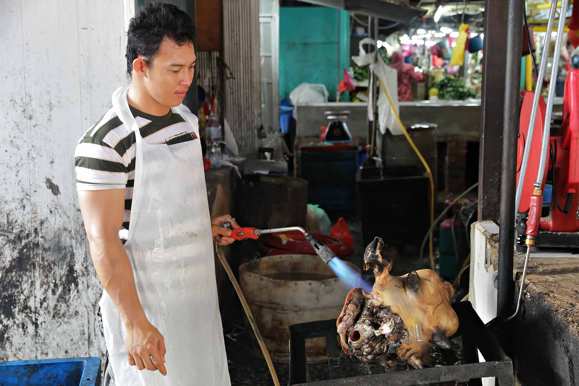 Meat market in Kuala Lumpur, Malaysia. © Ulli Maier & Nisa Maier