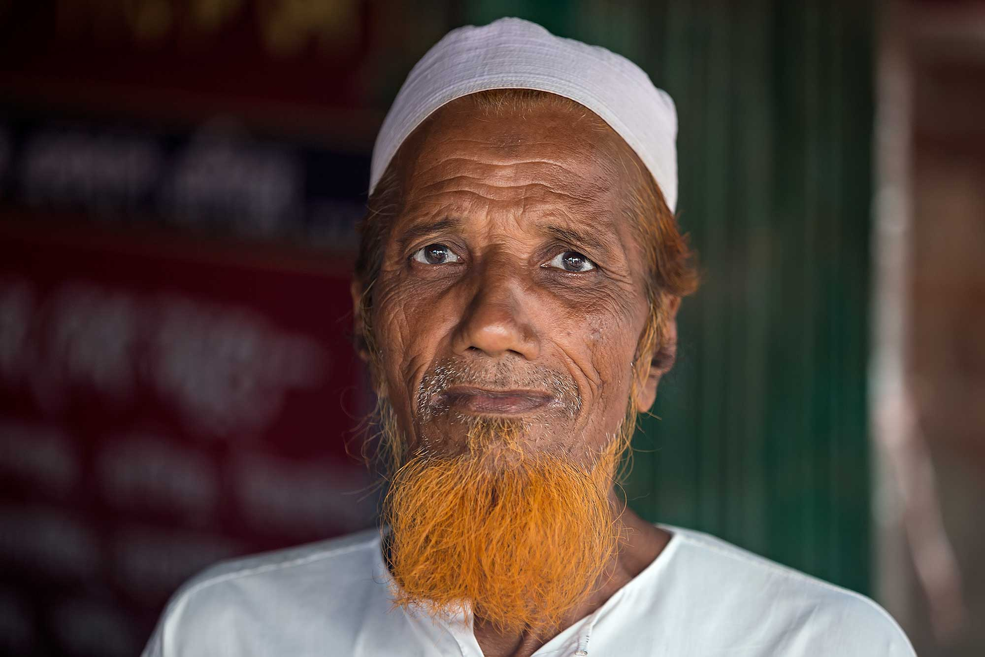 portrait-man-orange-beard-chittagong-bangladesh