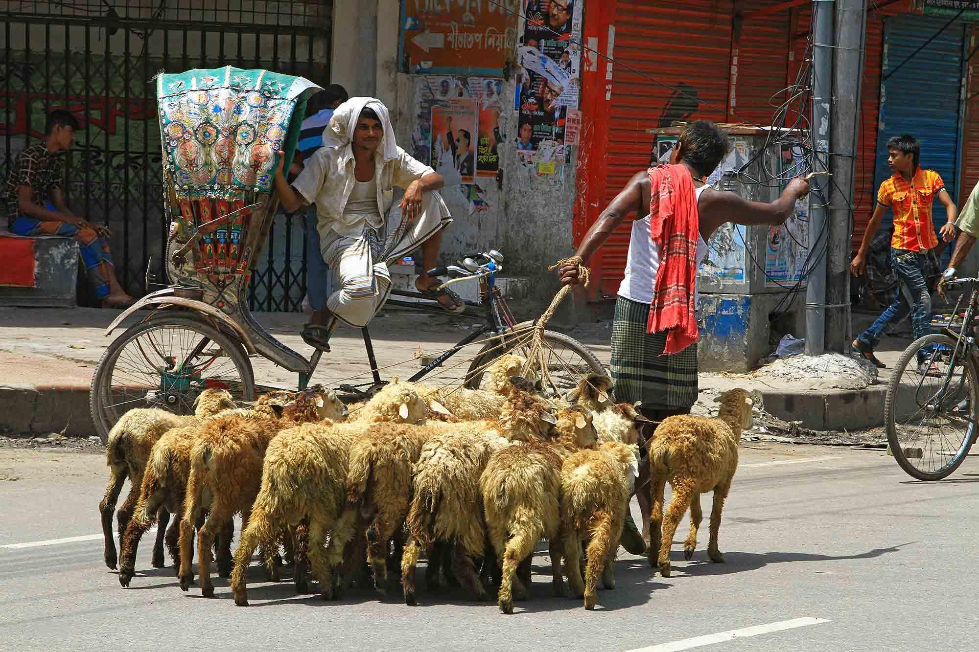 Street scene in Dhaka. © Ulli Maier & Nisa Maier