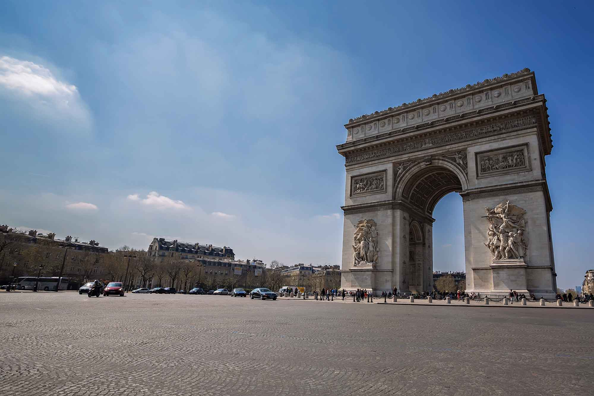 Arc de Triumphe in Paris, France. © Ulli Maier & Nisa Maier