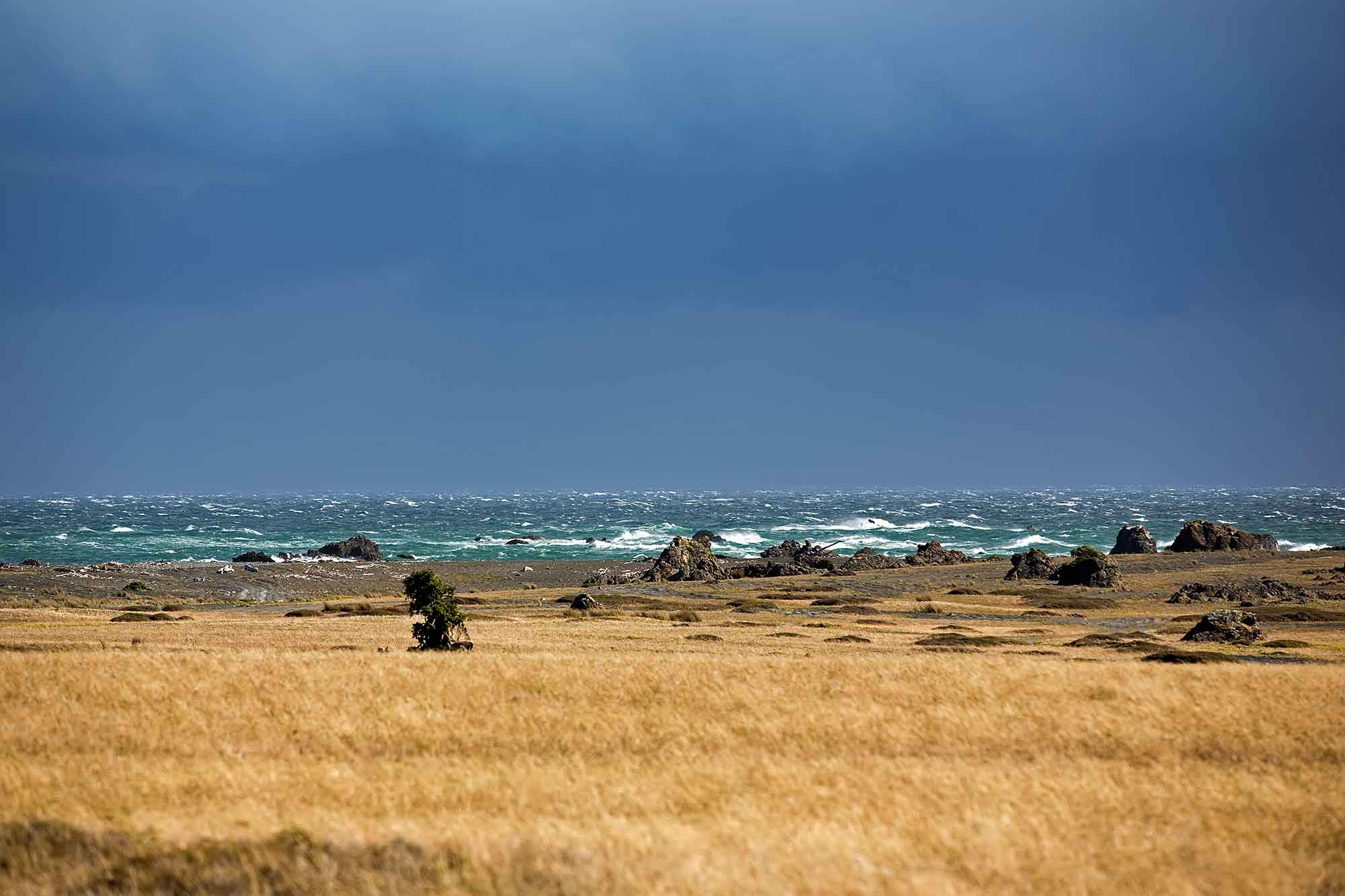 A storm is approaching on Cape Palliser, New Zealand. © Ulli Maier & Nisa Maier