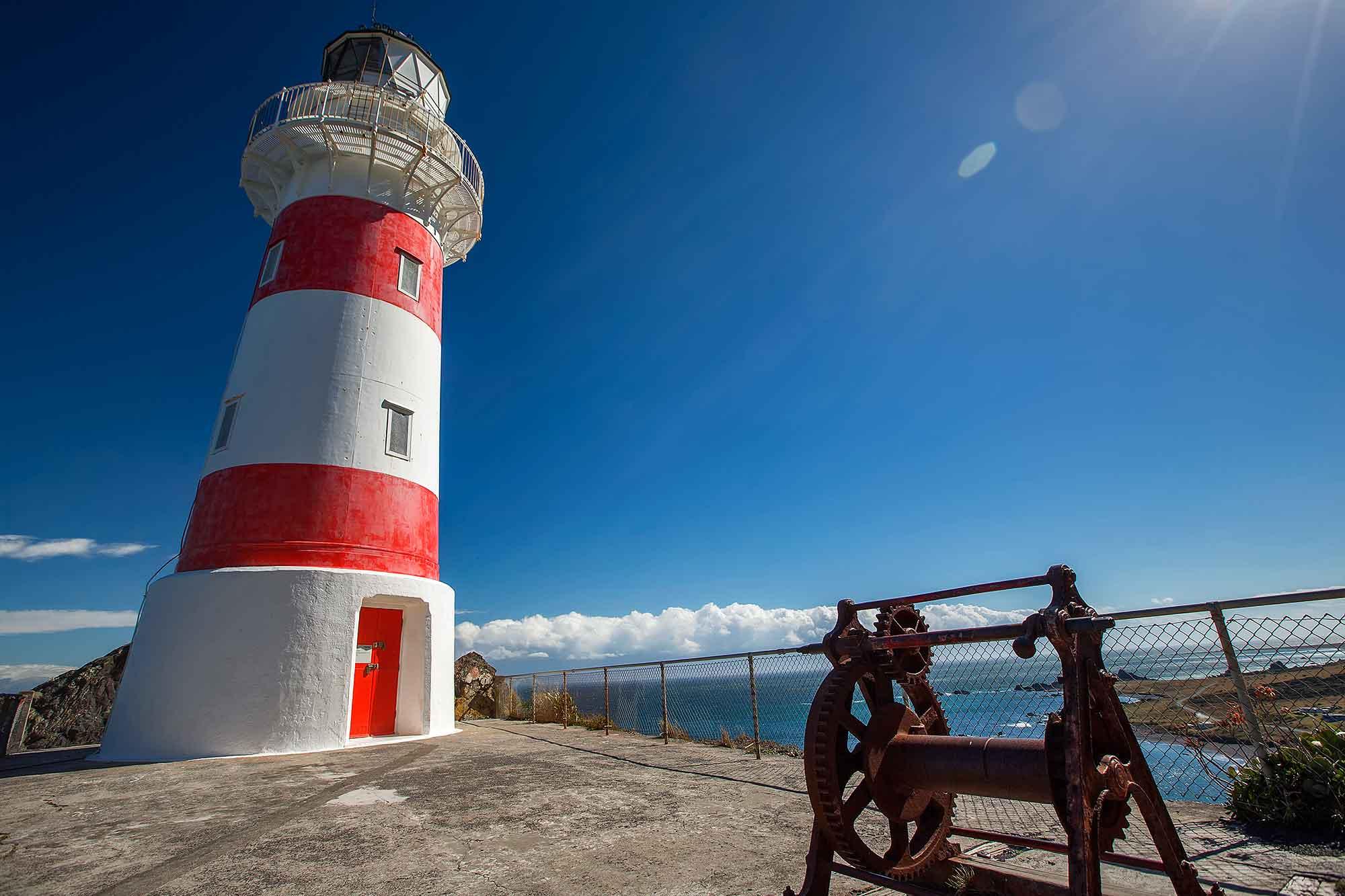The lighthouse on Cape Palliser, New Zealand. © Ulli Maier & Nisa Maier