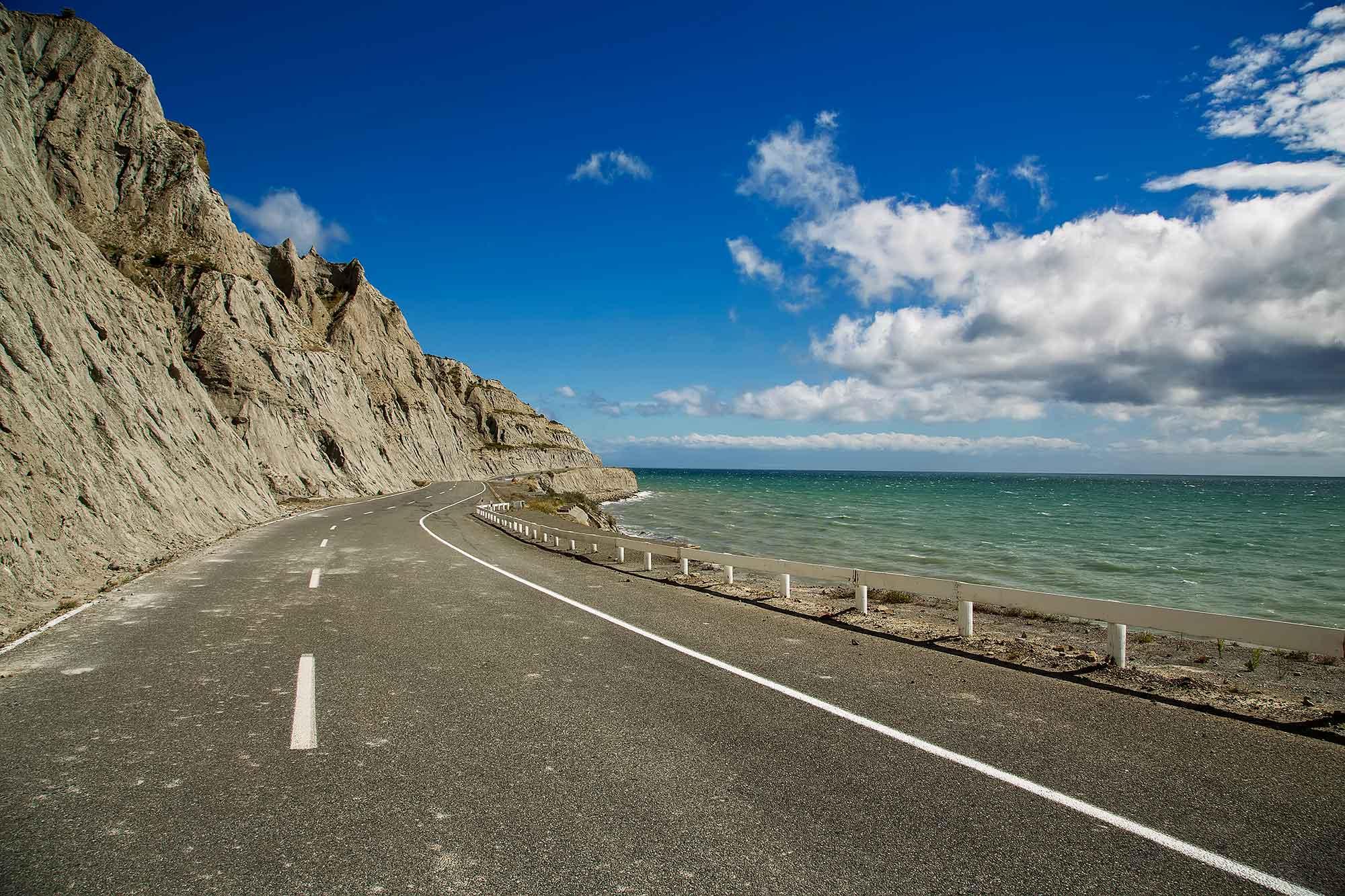 Ocean road on Cape Palliser, New Zealand. © Ulli Maier & Nisa Maier