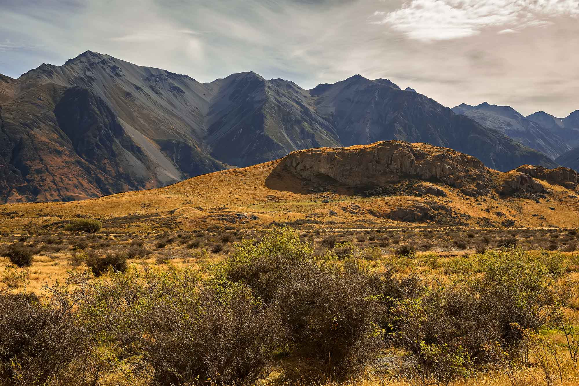 Mount Sunday, Rangitata Valley, New Zealand. © Ulli Maier & Nisa Maier