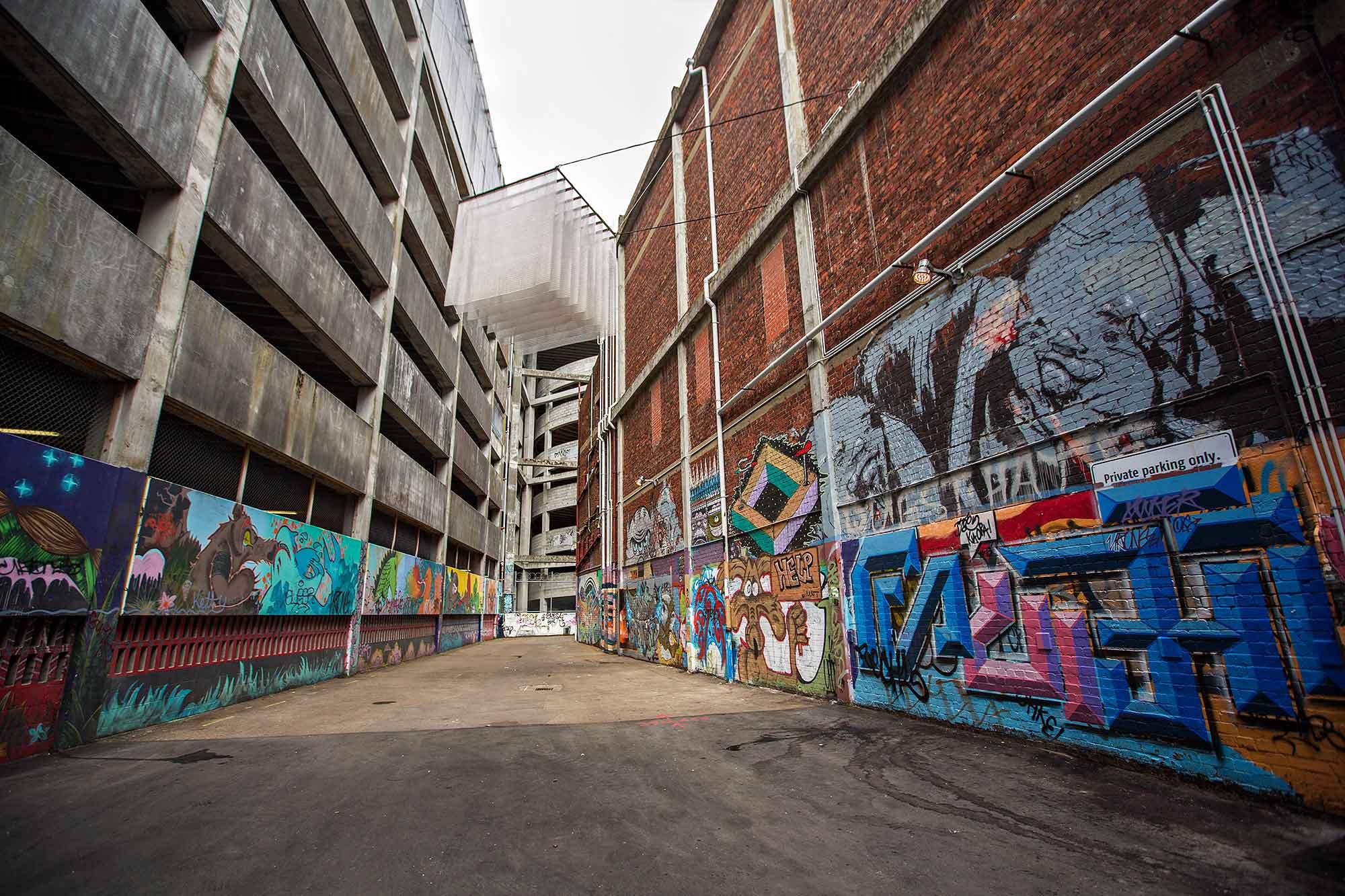 Street art in Wellington, New Zealand. © Ulli Maier & Nisa Maier