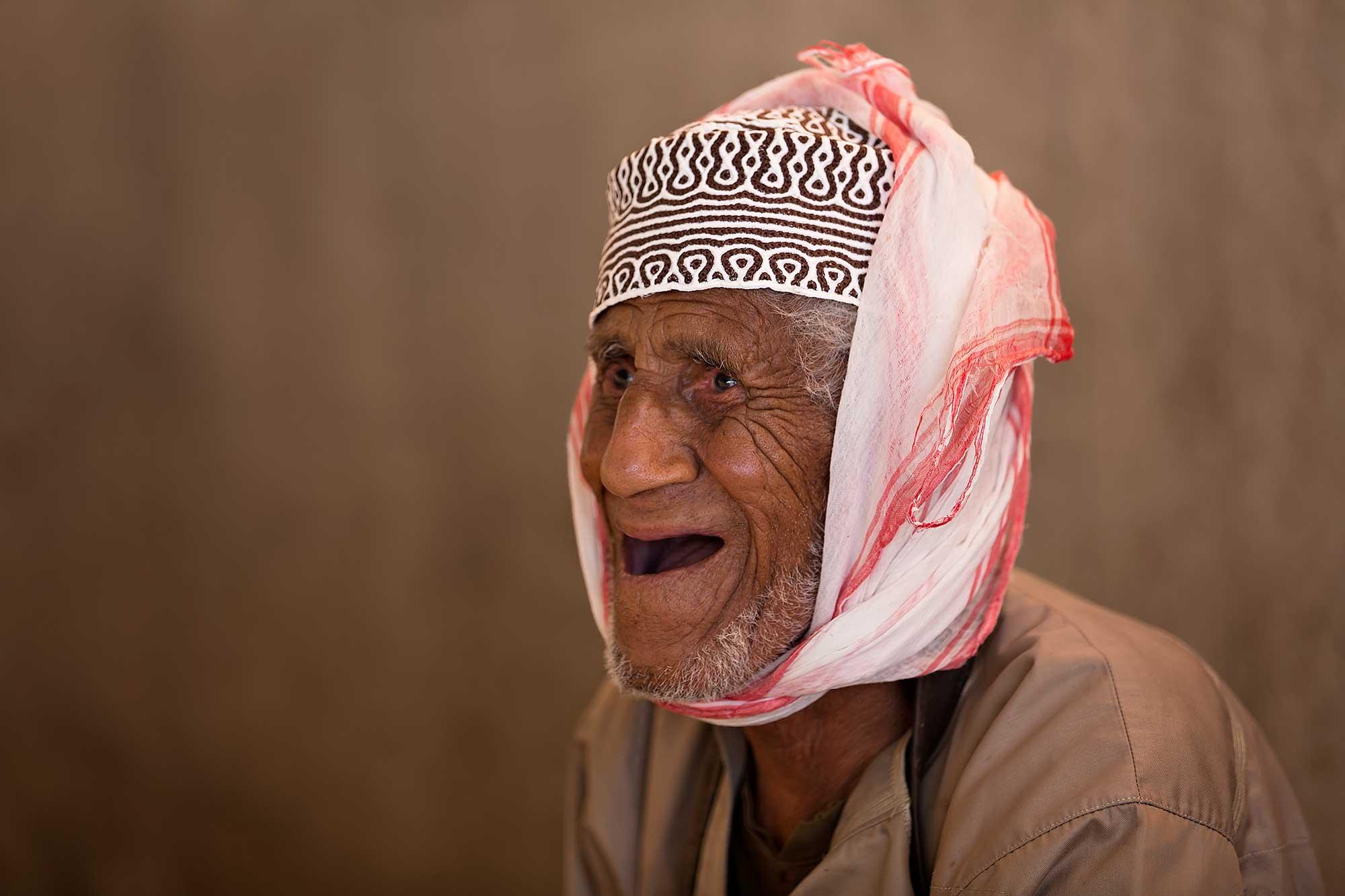 Portrait of a market man in Muscat. © Ulli Maier & Nisa Maier