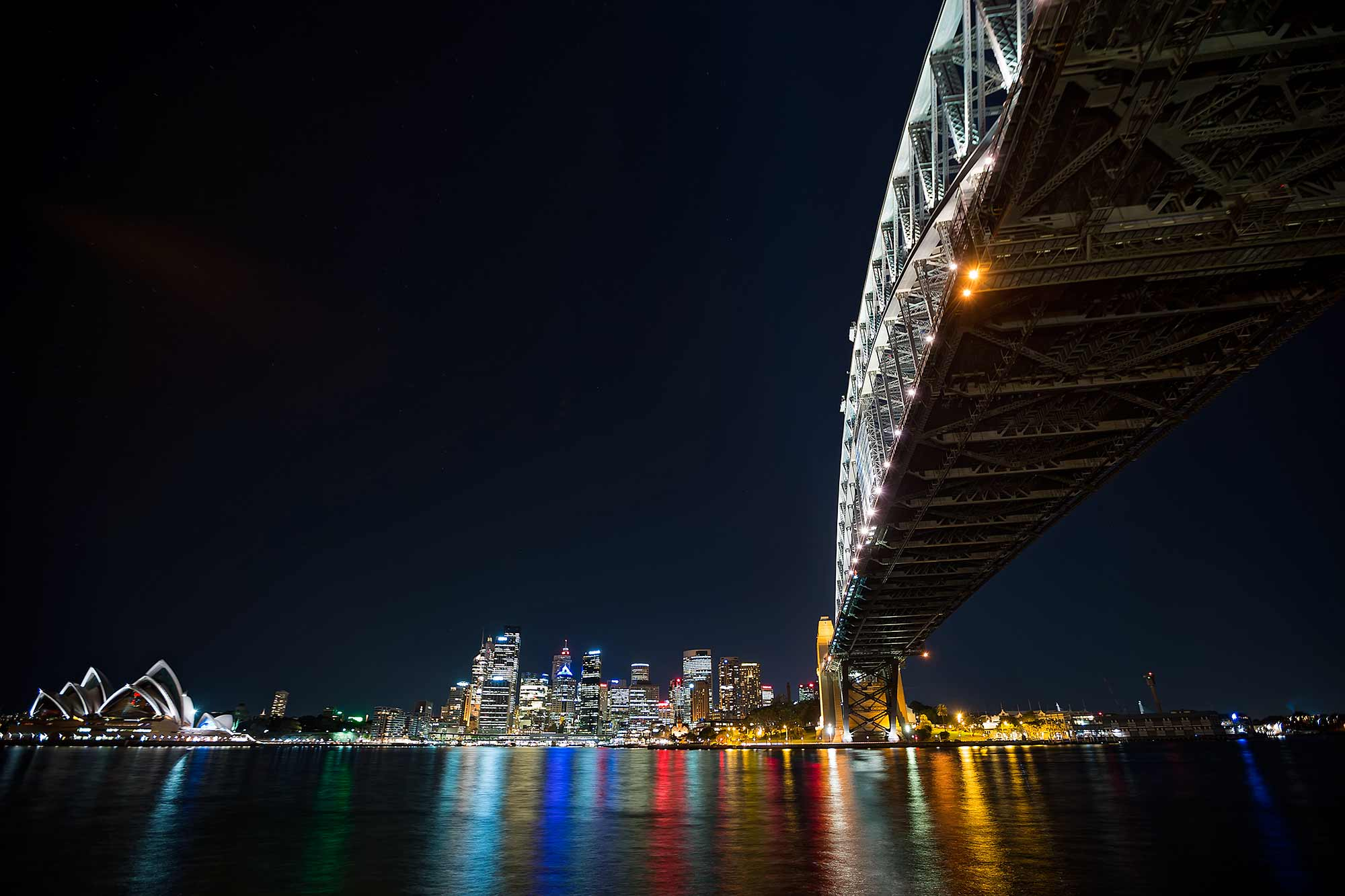 View of Darling Harbour: Sydney skyline at night. © Ulli Maier & Nisa Maier
