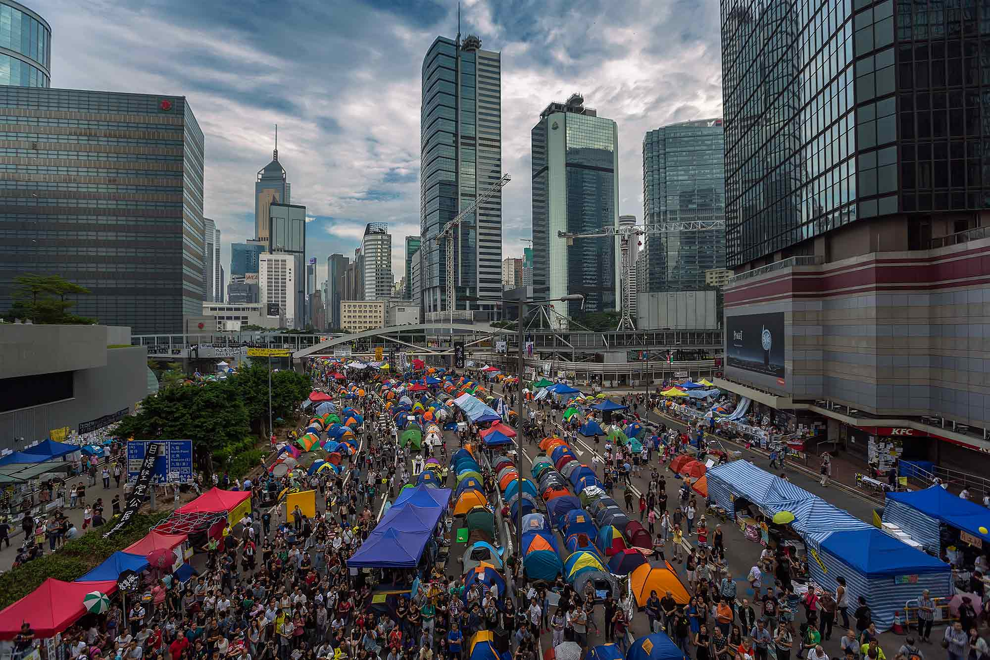 The Umbrella Movement in the Admiralty district, Hong Kong. © Ulli Maier & Nisa Maier
