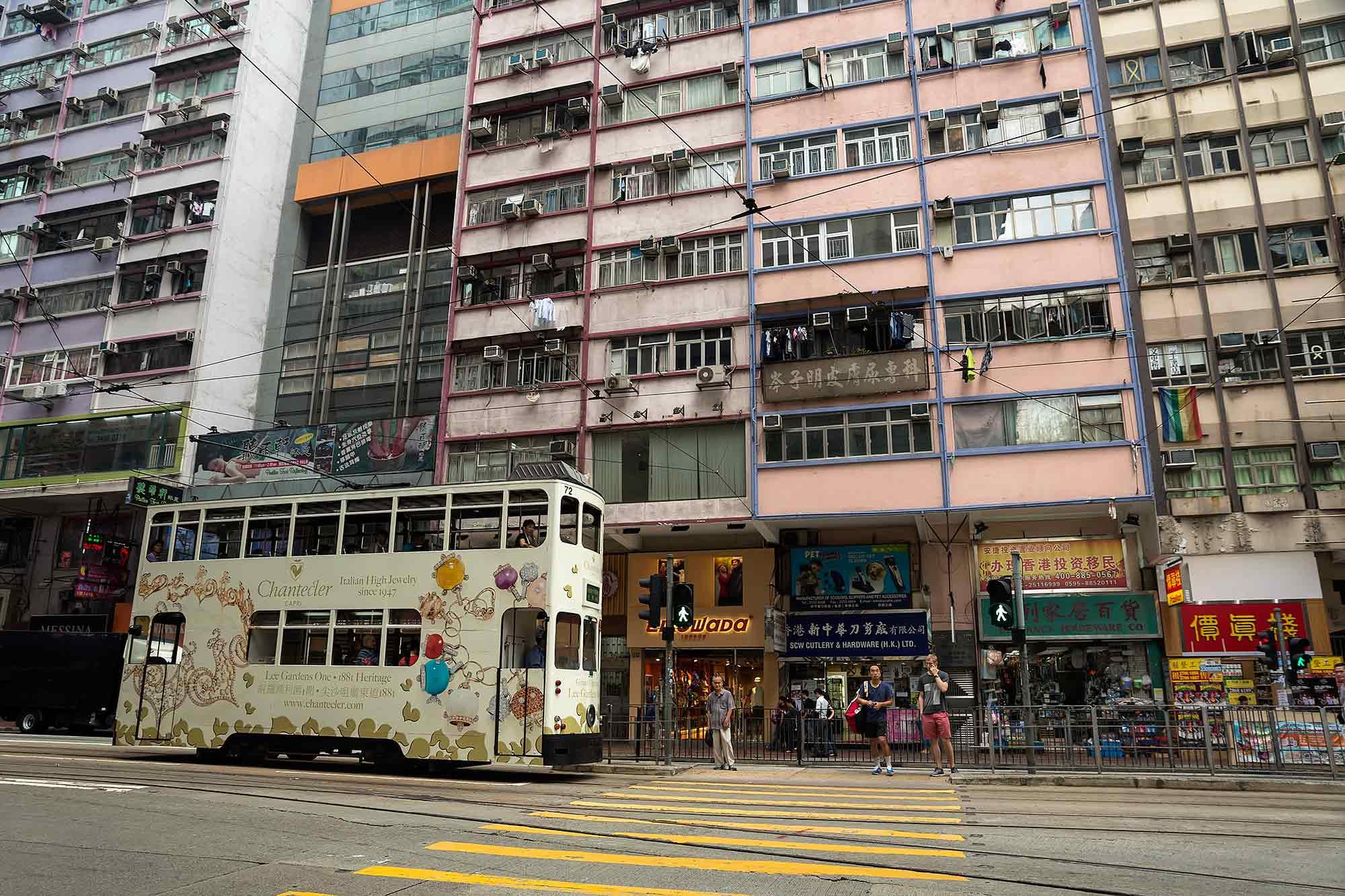 A tram in Wanchai, Hong Kong. © Ulli Maier & Nisa Maier