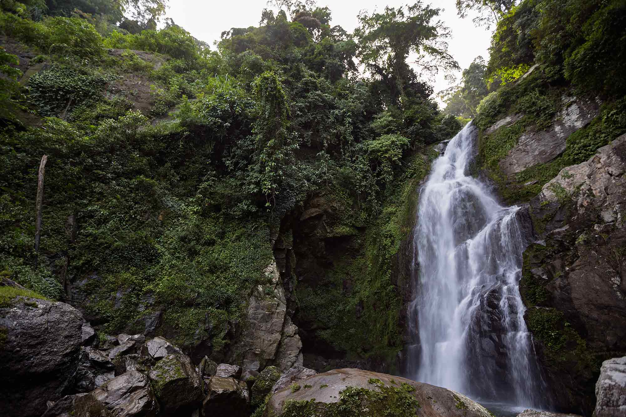 A waterfall in West Sumatra, Indonesia. It was the most horrible walk of my life, with hundreds of leeches crawling on the ground. © Ulli Maier & Nisa Maier