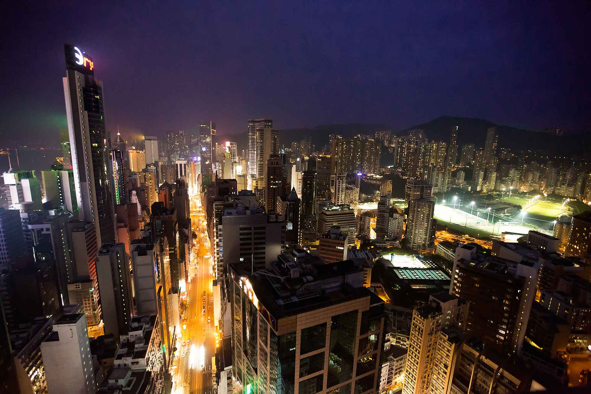 View from the rooftop bar Wooloomooloo in Wanchai, Hong Kong. © Ulli Maier & Nisa Maier