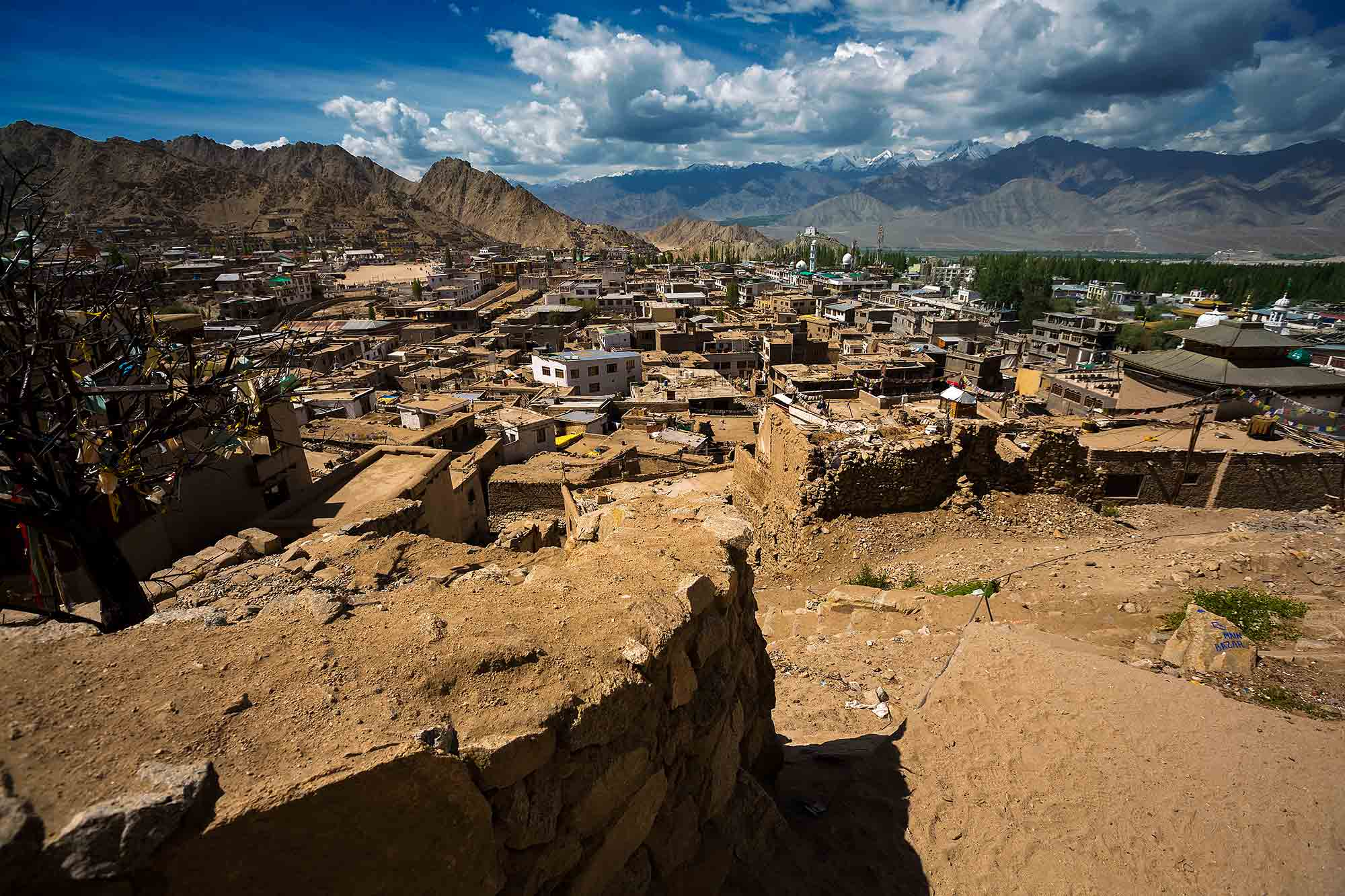 leh-view-ladakh-kashmir-india