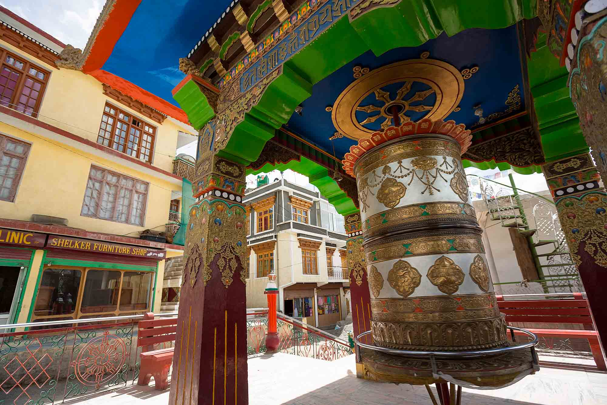 prayer-wheel-leh-ladakh-india
