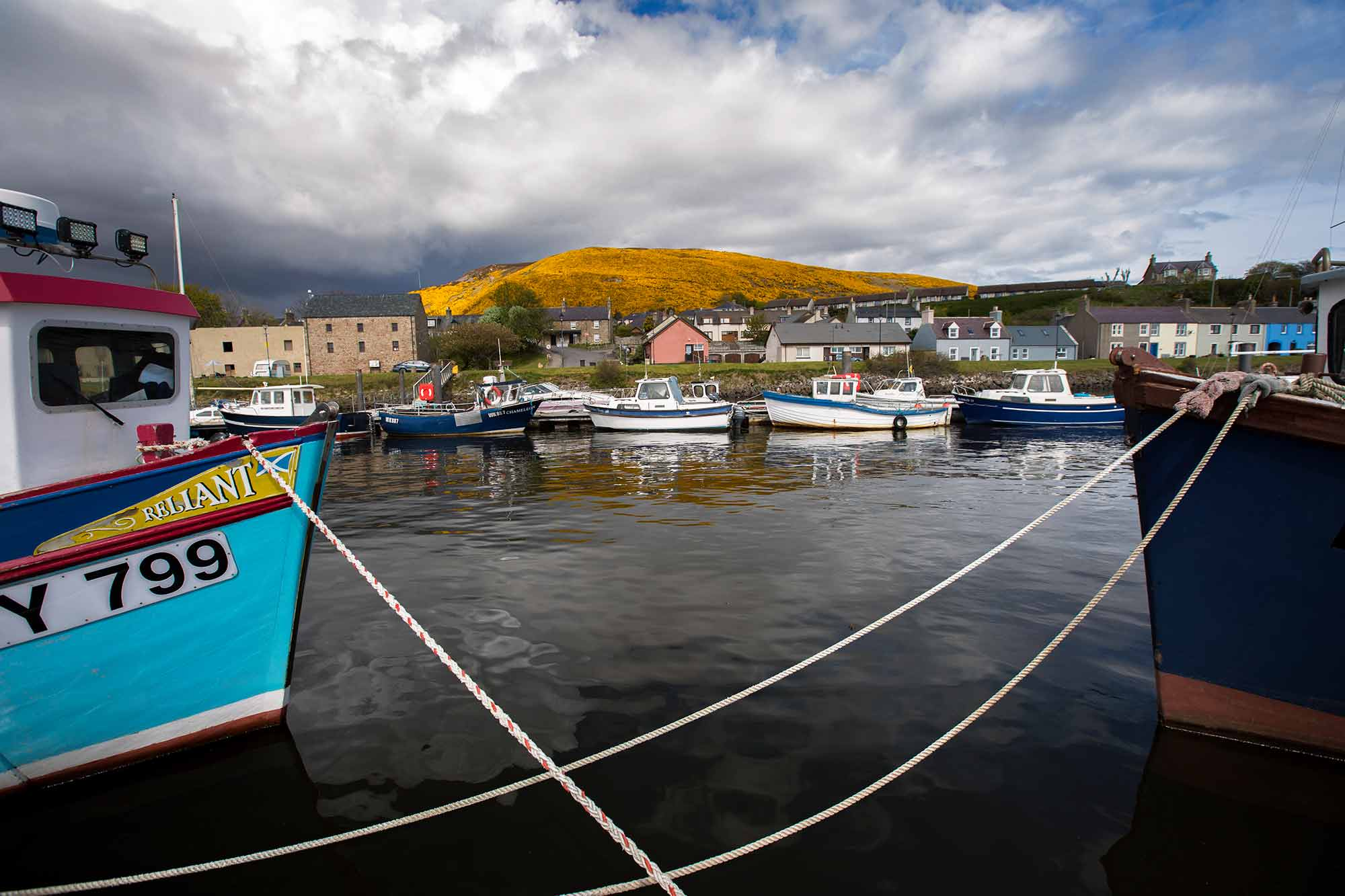 During our road trip through Scotland, we passed this cute little town called Gourdon. © ULLI MAIER & NISA MAIER