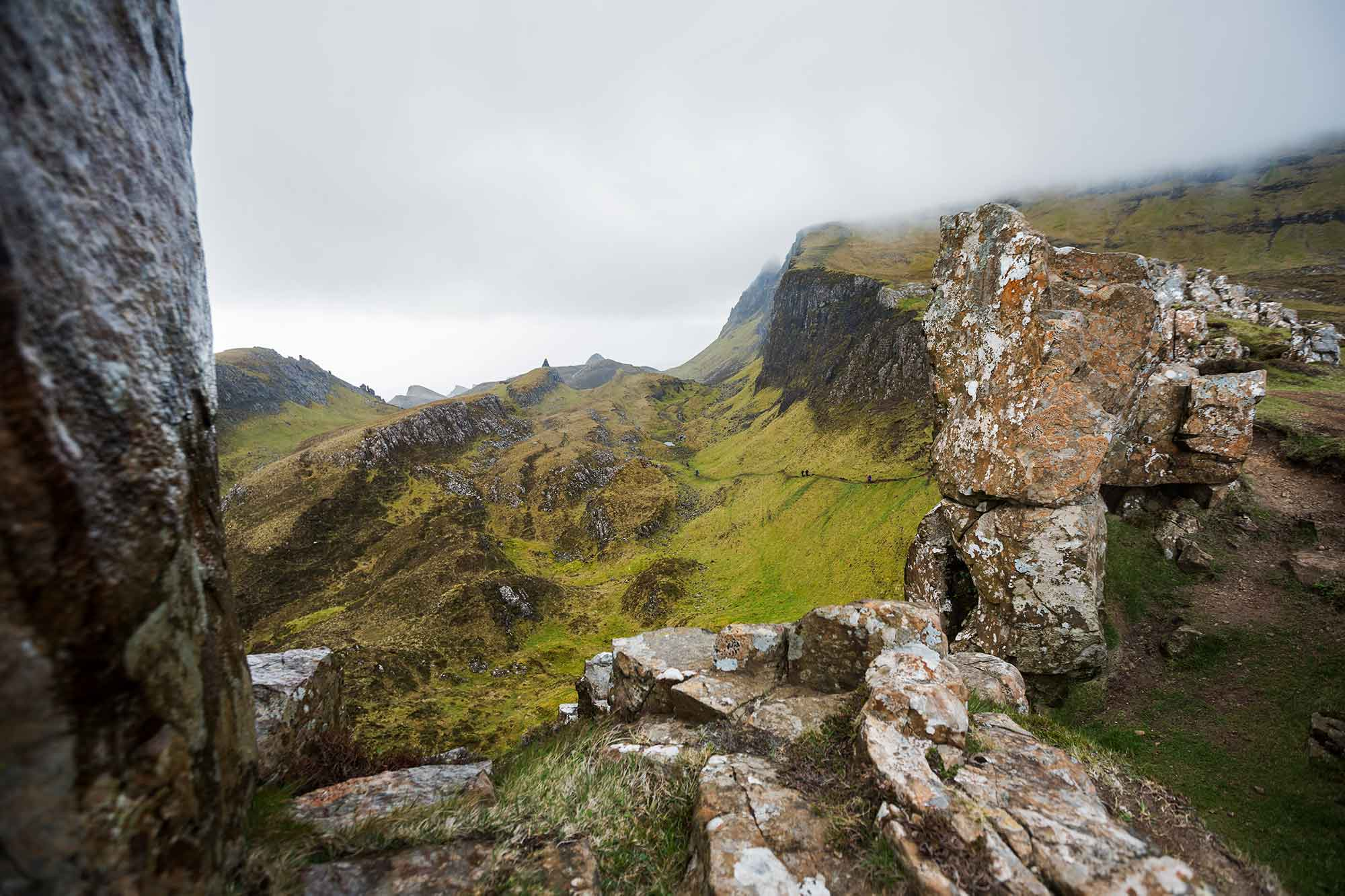 We hiked the Quiraing loop with winds to strong it almost blew us off the cliffs. © ULLI MAIER & NISA MAIER