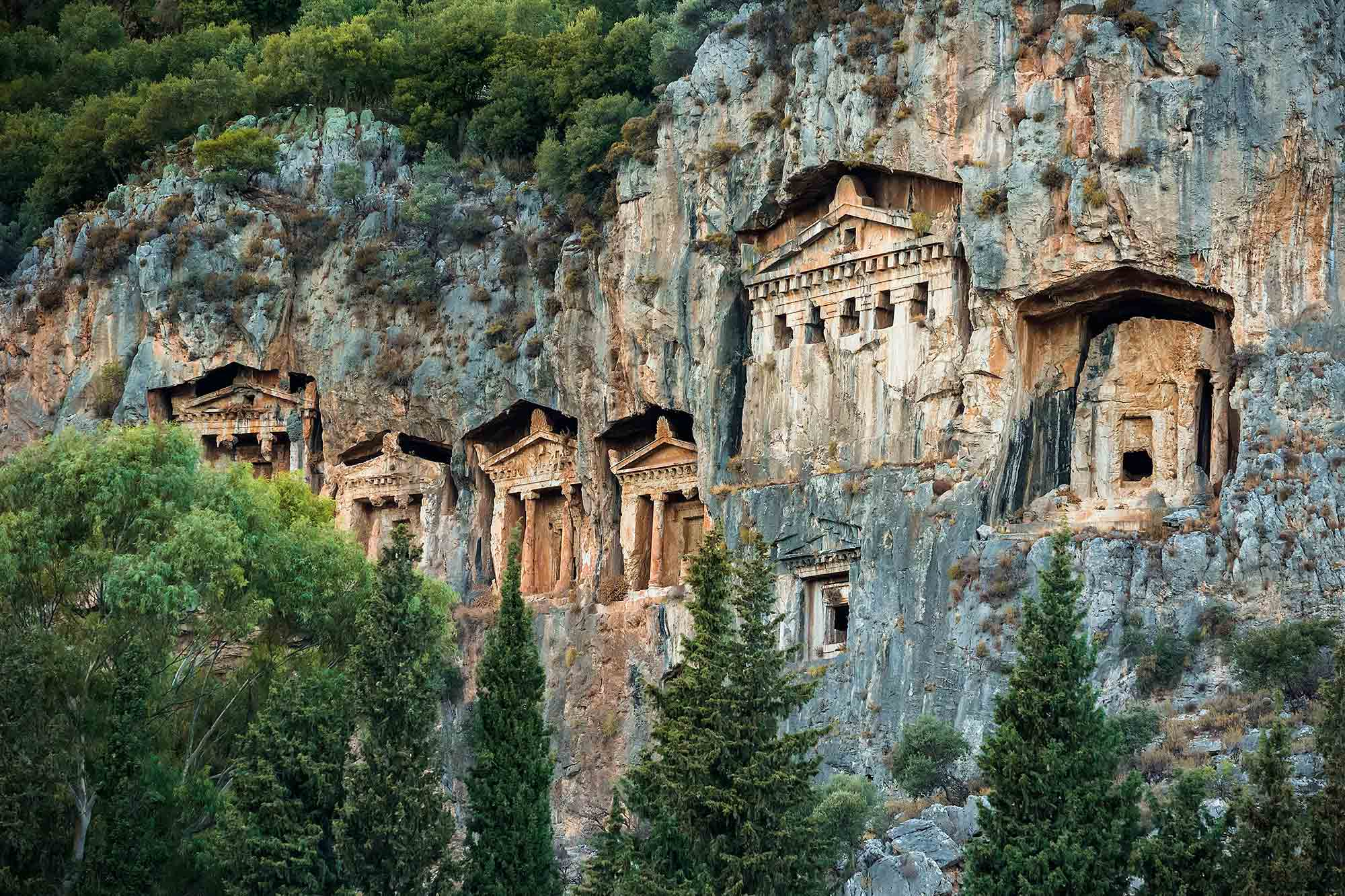 lycian-tombs-dalyan-turkey