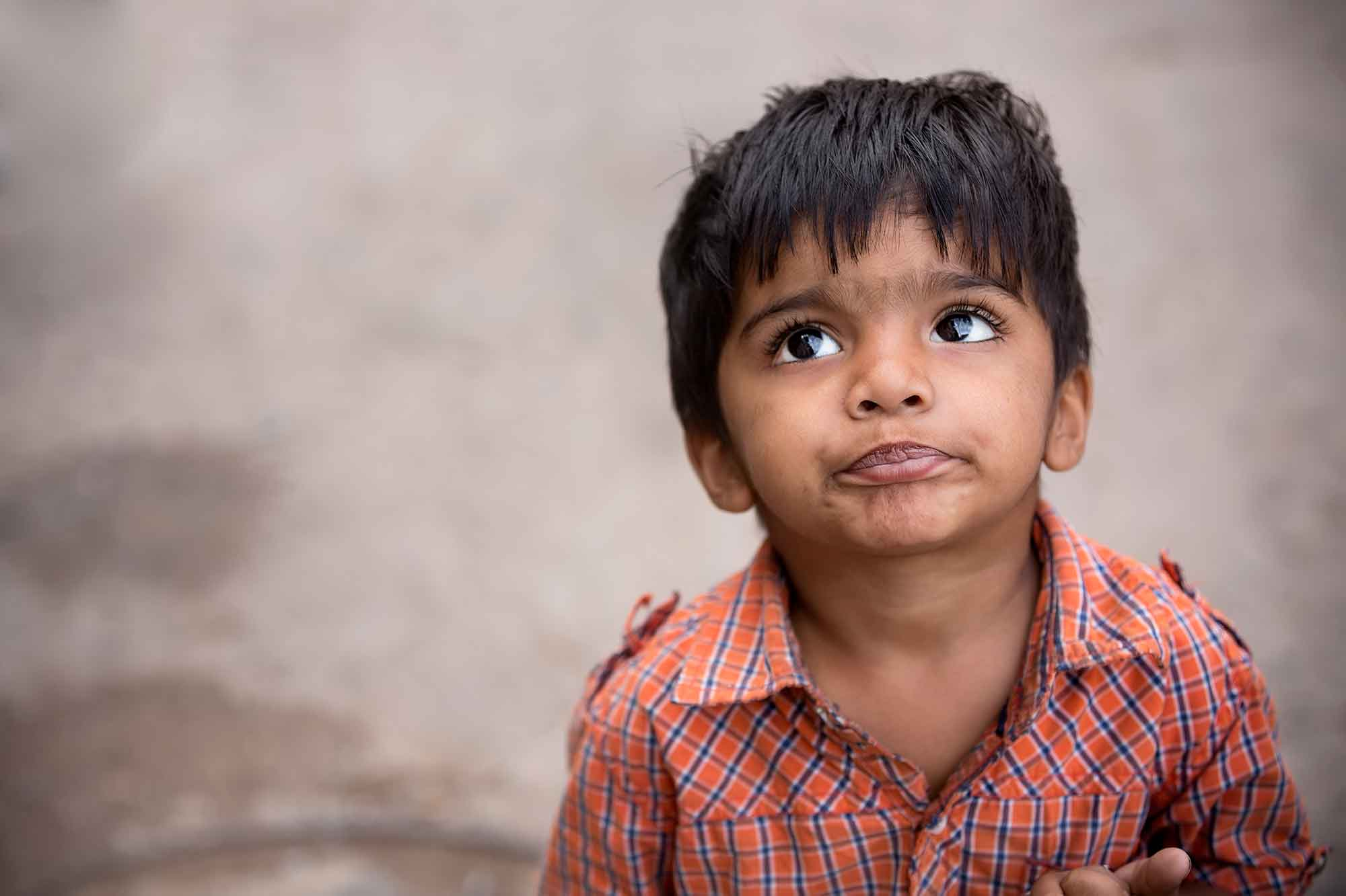 portrait-little-boy-india