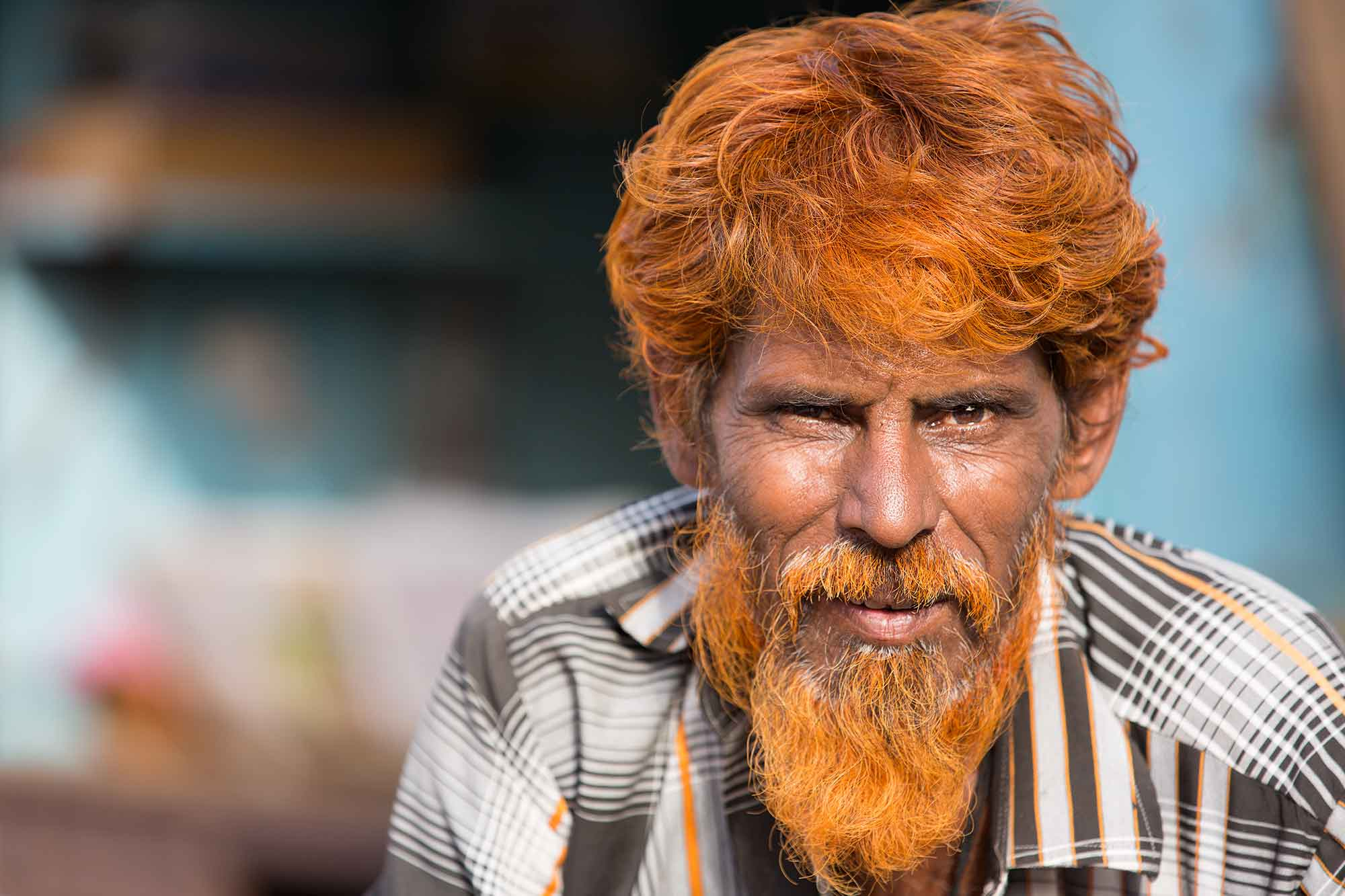 portrait-man-orange-beard-bhuj-gurajat-india