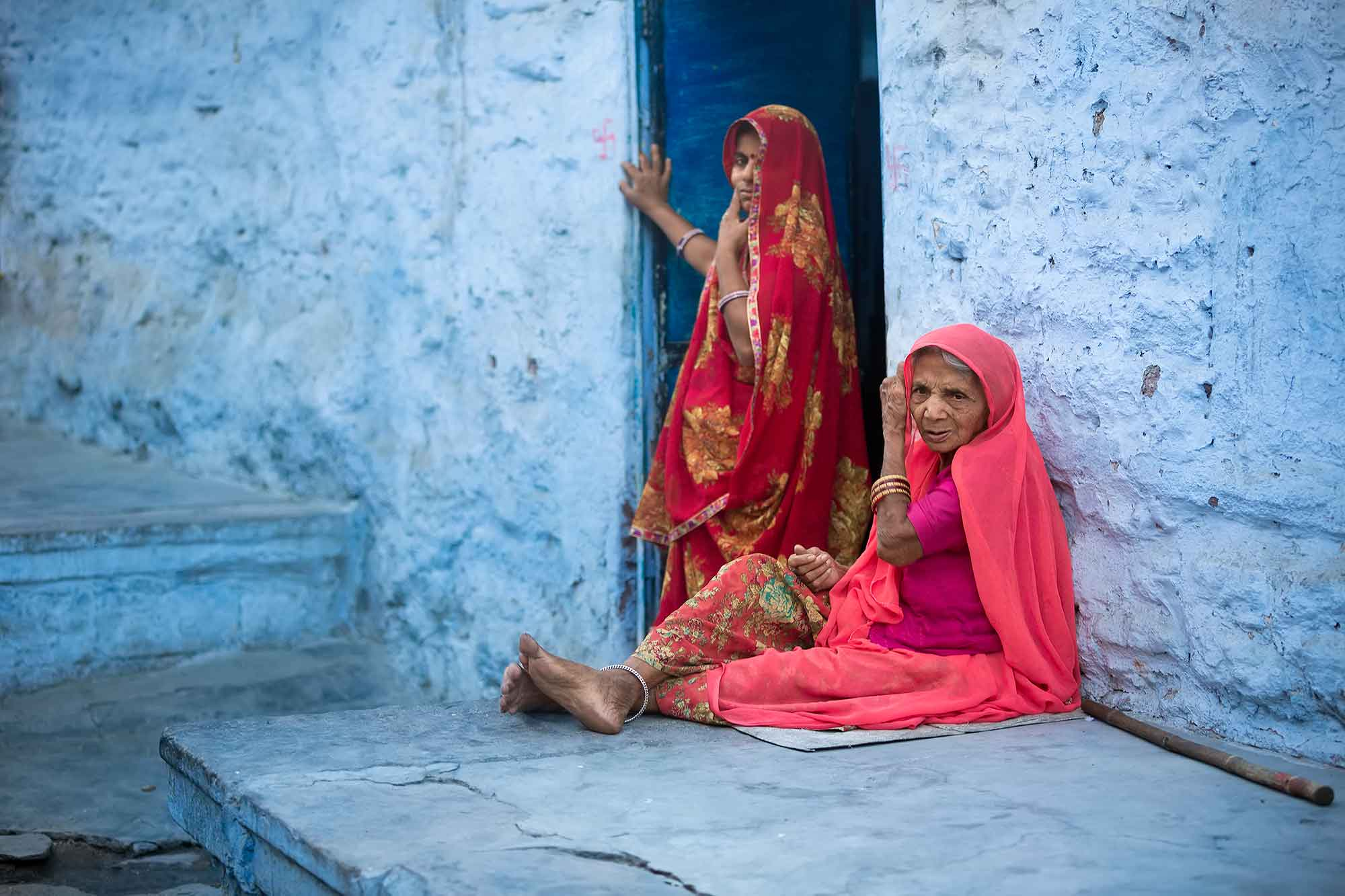 woman-sitting-jodhpur-india