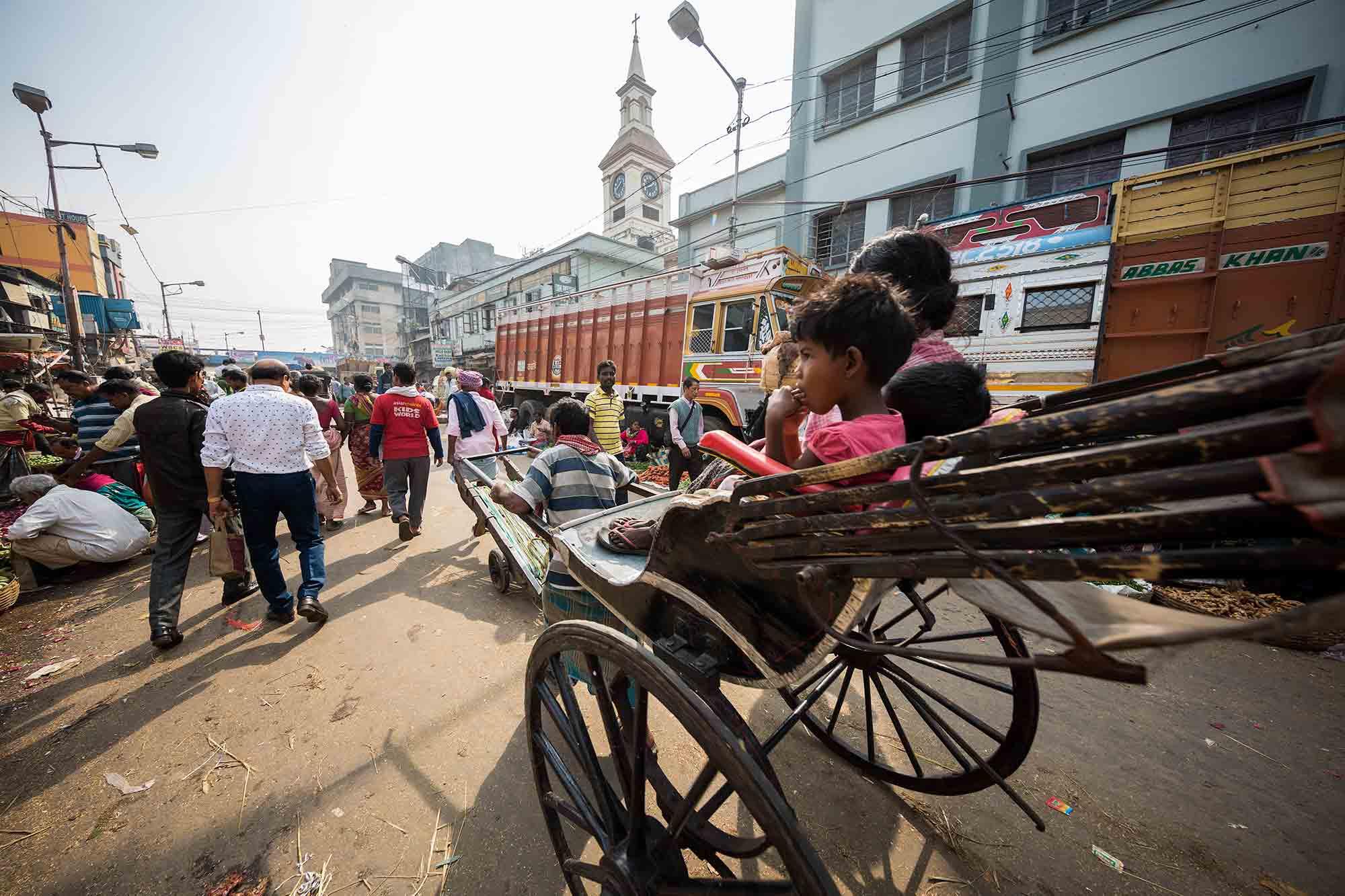 Koley-Market-rickshaw-kolkata-india